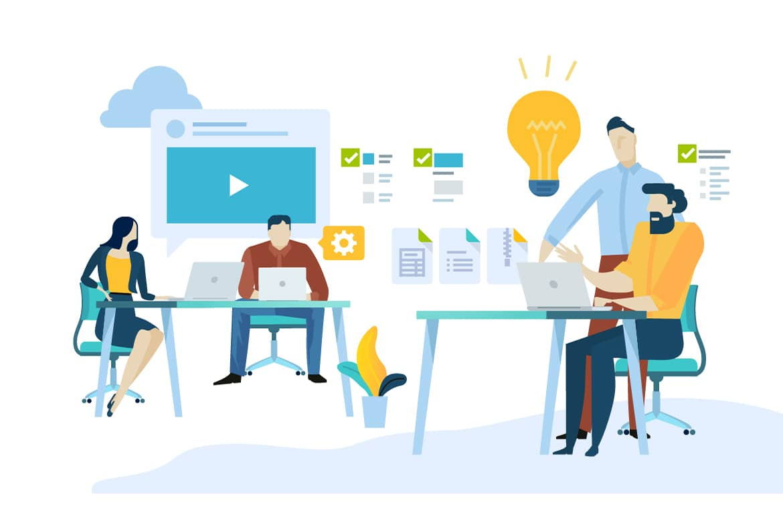 team working together at web design chantilly va